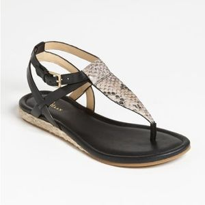 Cole Haan Grove Snakeskin Sandal Size 7